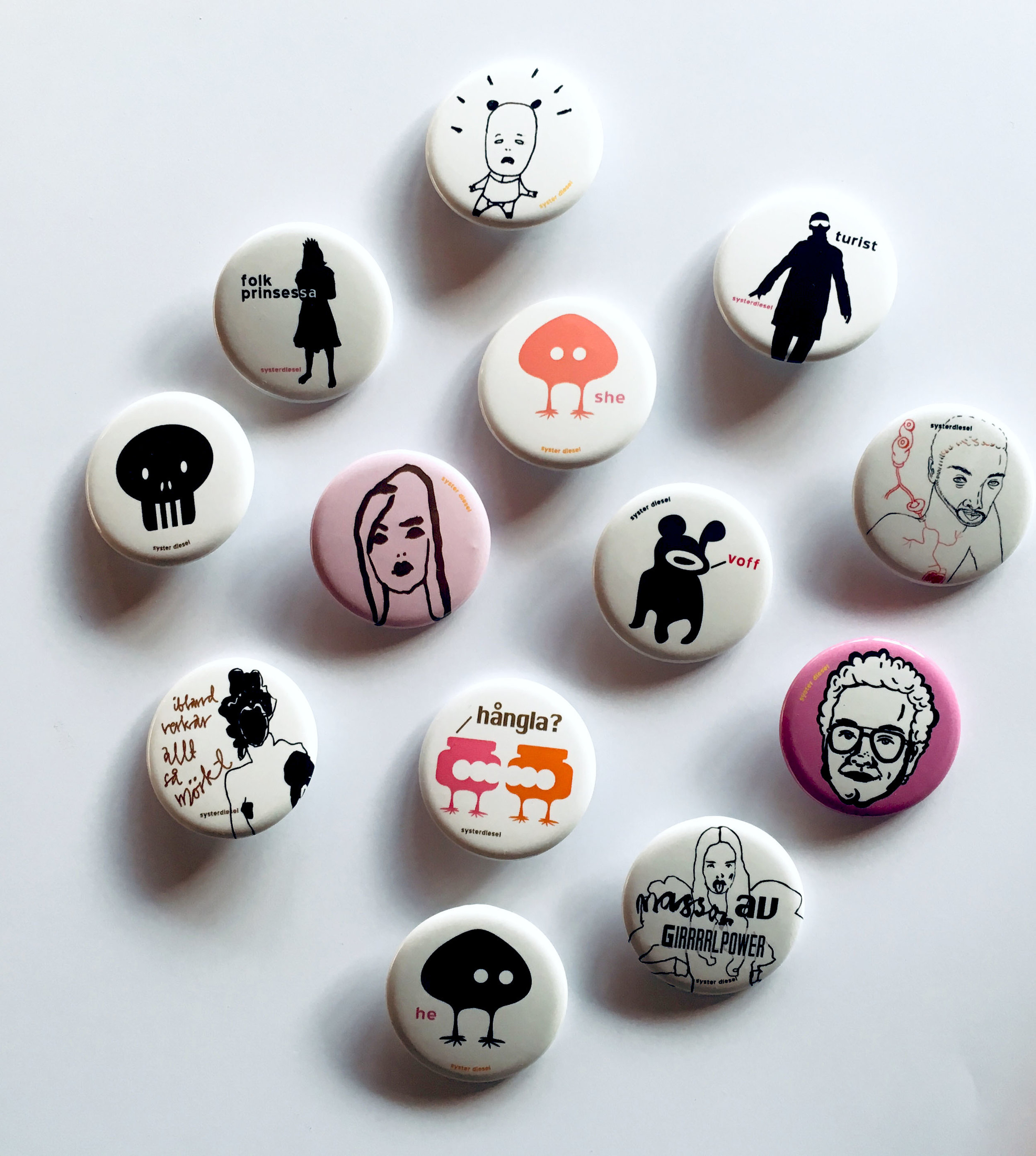 Event project- badges pins