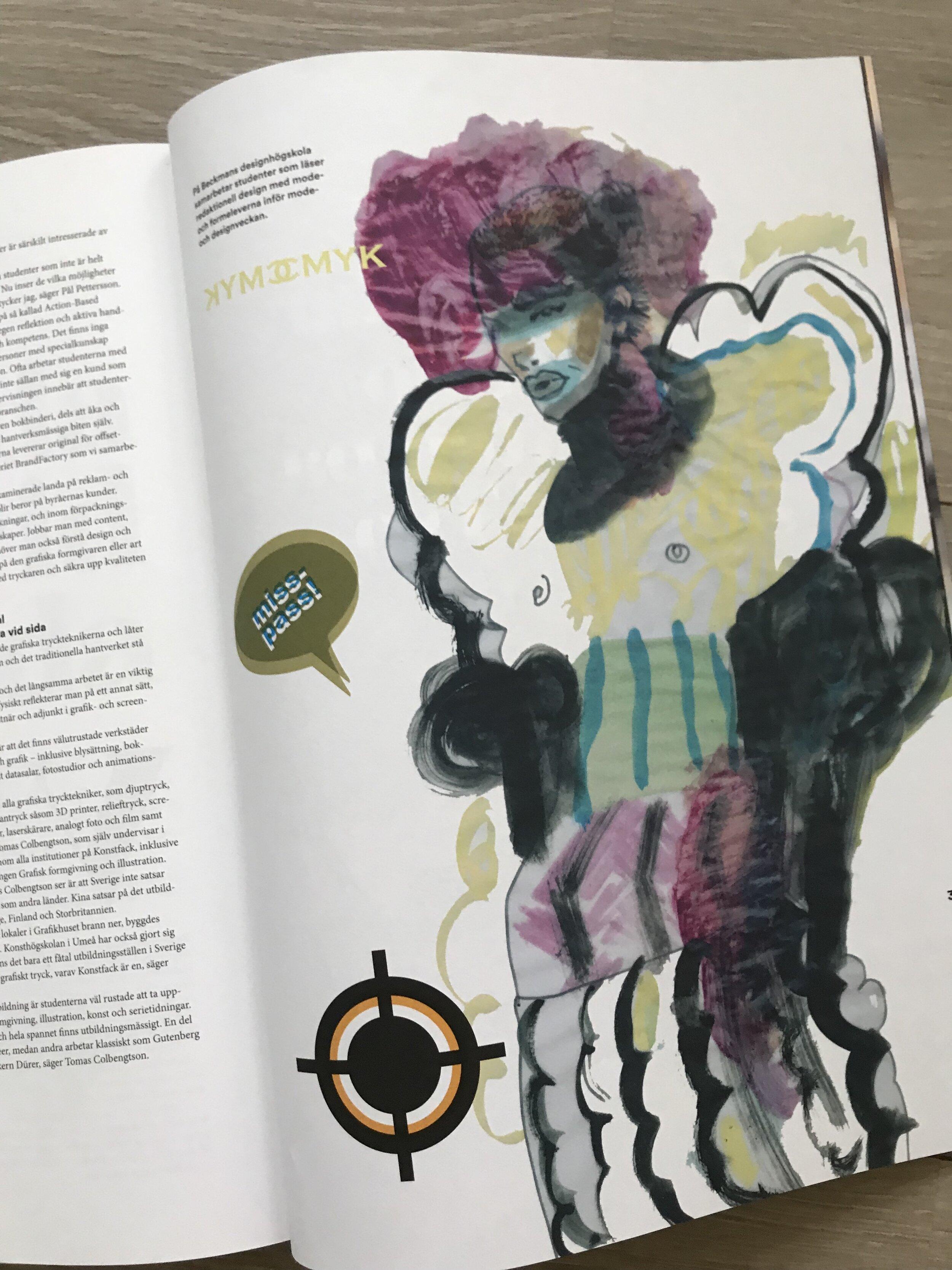 Illustration, Trydells magazine