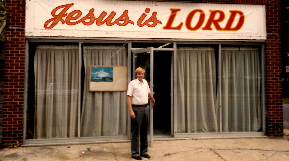 1980's - In the 80's Mark Randall and the campus ministry met in the building that is now Lucky's across from Wilson Hall.