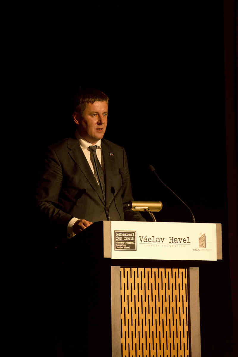 Tomas Petricek, Czech Minister of Foreign Affairs, opening the 30 Years of Freedom Gala