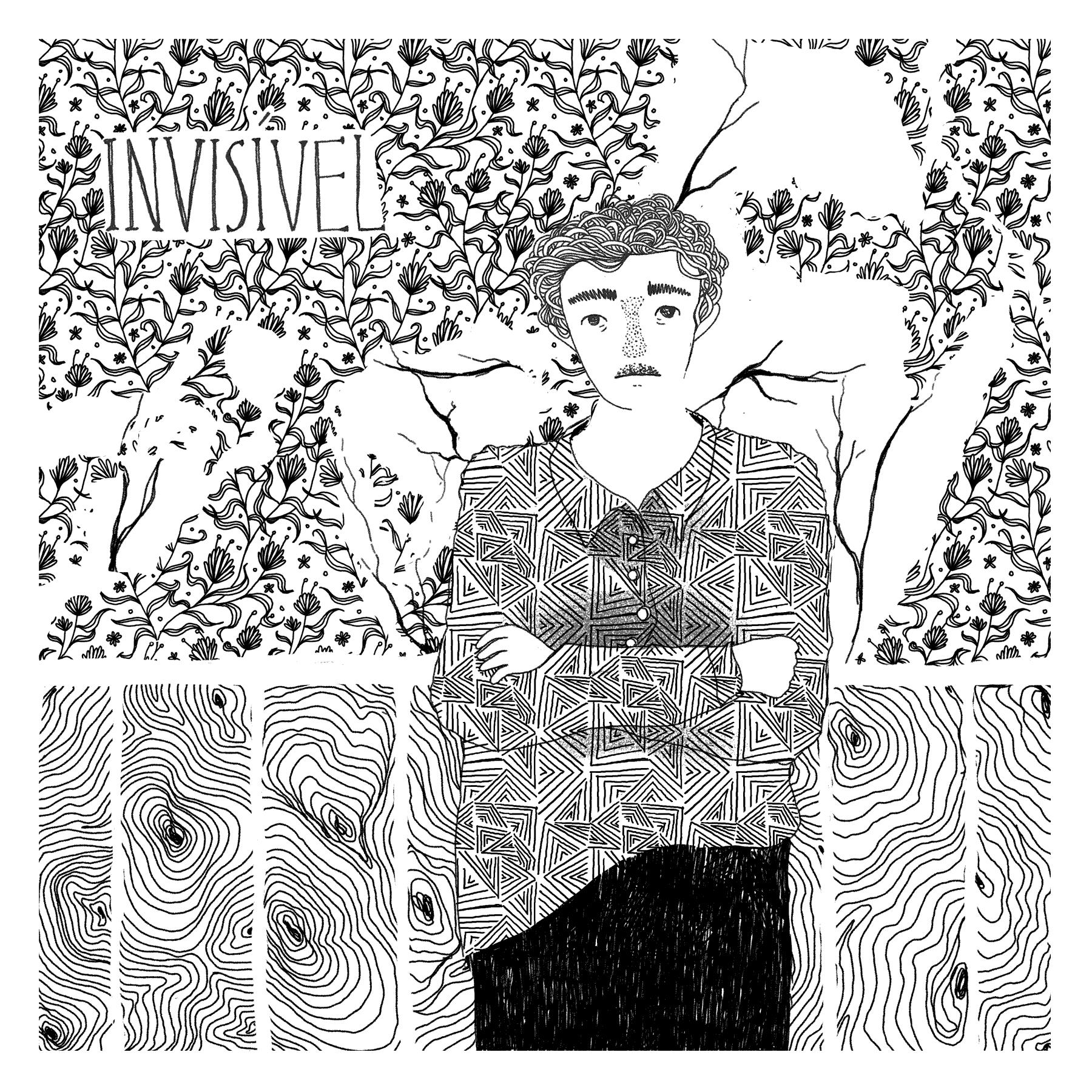 """arte original para a capa do disco """"invisível"""", de Daniel Villares"""