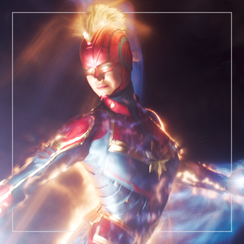 Captain Marvel  out of home av+social