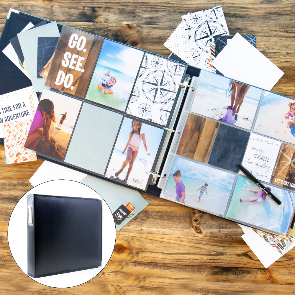 Vacation & Travel Kit with Navy Blue Album