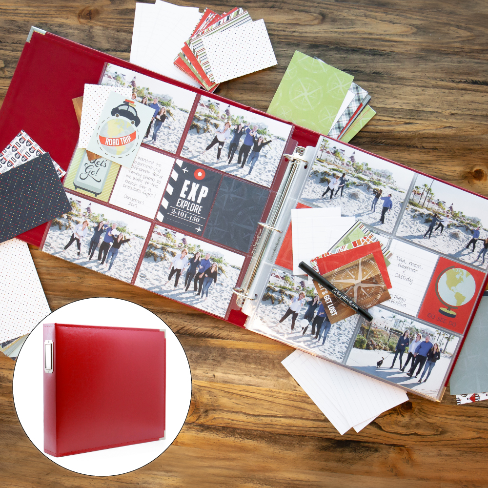Vacation & Travel Kit with Red Album
