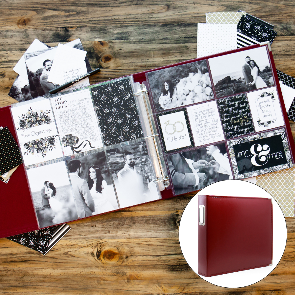 Wedding Kit with Deep Red Album