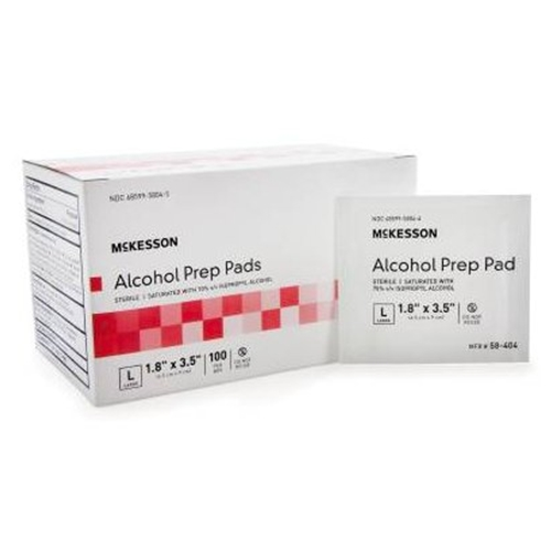 Alcohol Pads: Sterilize injection site!  Best: Soap and water, then alcohol wipe in outside spiral pattern  OK: Just alcohol pad; liquor (without sugar)  Please Avoid: Nothing. Please try to do something to wash off the injection site.