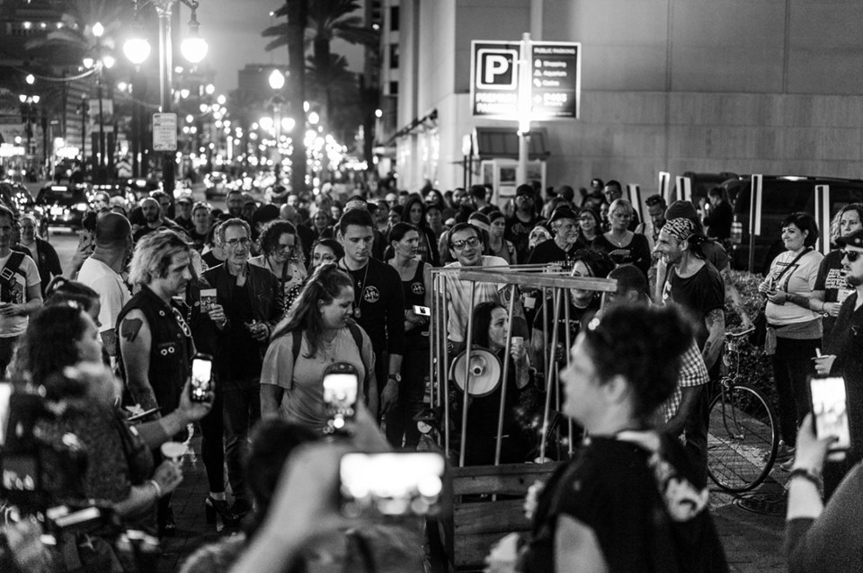 Stand Strong and Light the Night with our Souls. Urban Survivors' Union March (New Orleans, October 2018)