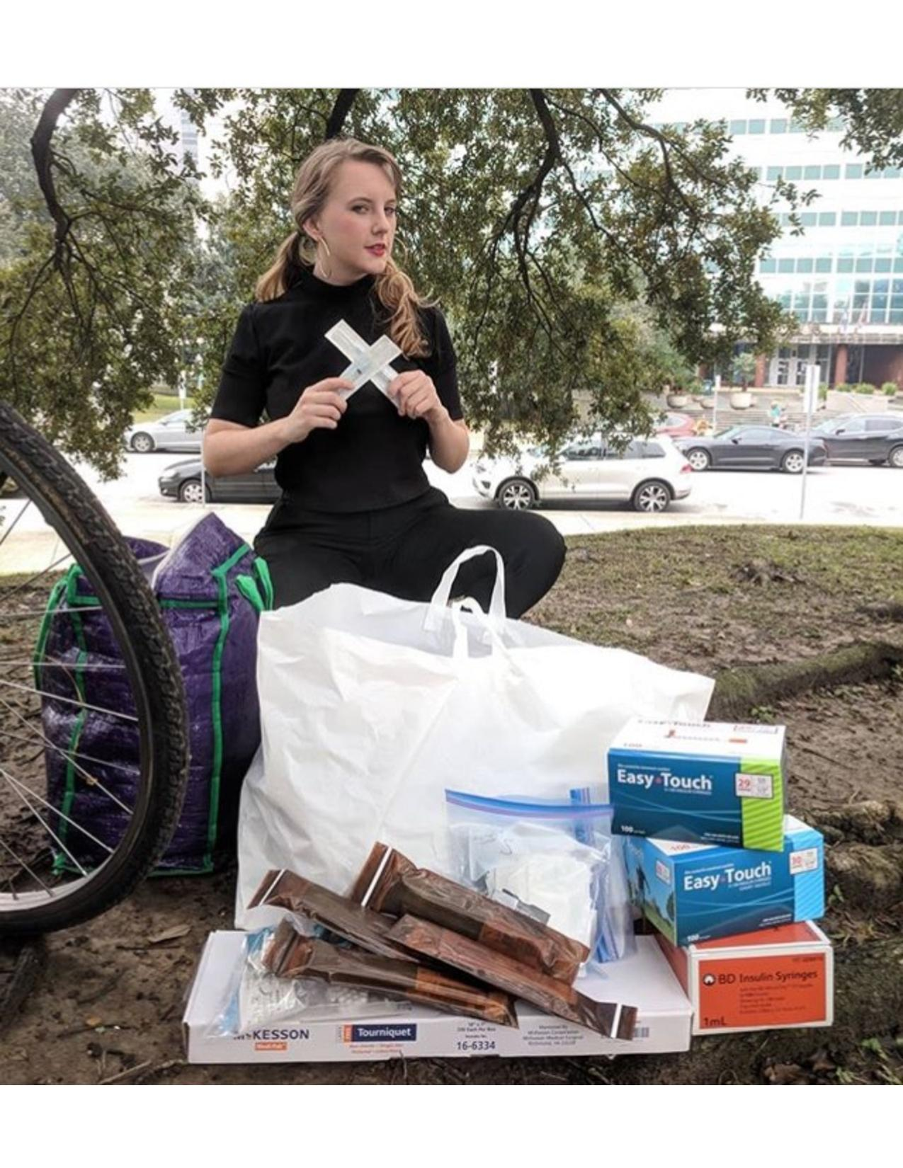 Supplies by Bike - Duncan Plaza, 2018