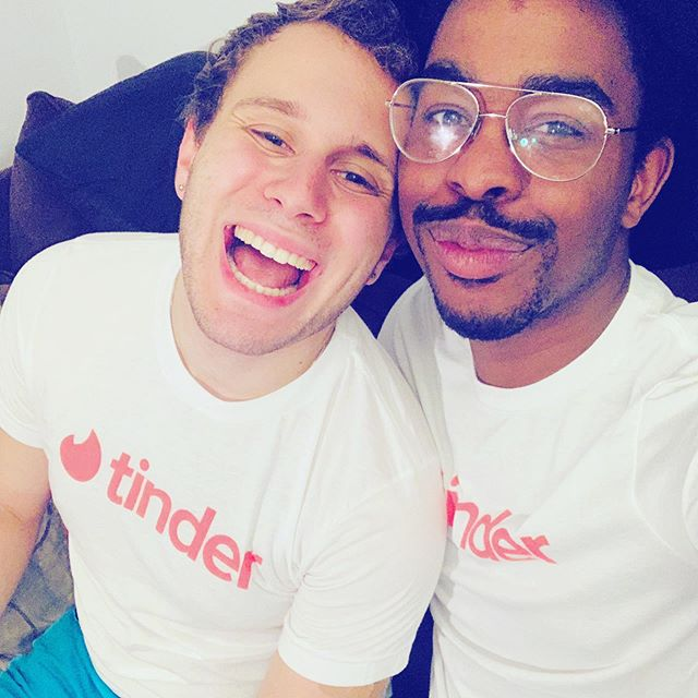 Thank you @tinder for all the goodies! So glad we swiped right!