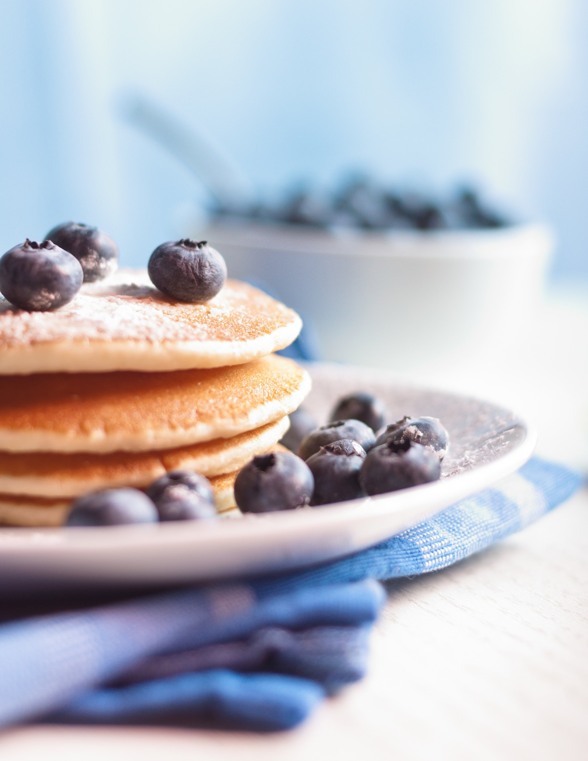 Lemon Blueberry Pancakes - This pancake recipe is the go-to in our house. Homemade and delicious. I've even made the batter the night before and allowed to set in the refrigerator over night for an easy breakfast the next morning.