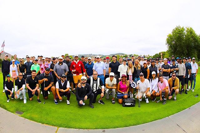 Good day for charity! Thank you @malbongolf &  @enter_works for having us! ⛳️