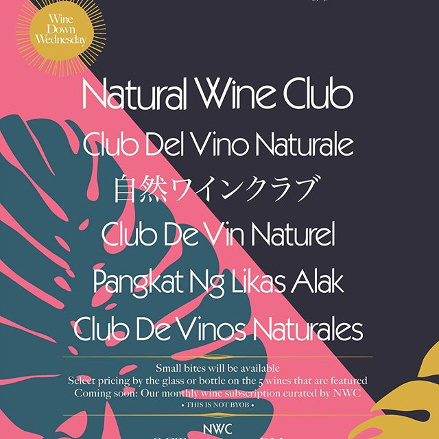 "This Wednesday 10/16 @thenaturalwineclub will be hosting ""Wine Down Wednesday"" at Franklin & Company. Special pricing by the glass and bottle. Wine list curated by NWC 🍷 #naturalwine #franklinvillage"