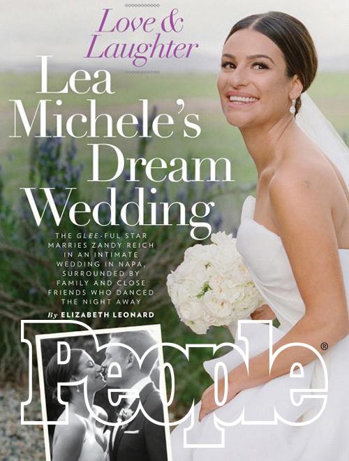 Celebrity Lea Michele wedding Lisa Vorce CO