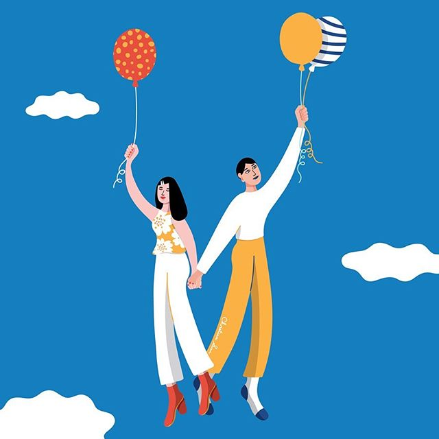 "Illustrations for TourHeart's upcoming exhibition ""Accompany"" 🎈🎈🎈""Accompany諧音正是「我肯陪你」。每個人都不斷在陪伴的旅程中遊歷,有時候我們的身份是陪伴者,有時候是被陪伴者。"" - - - 日期:8月9 - 11日 (五 – 日)  時間:11:00 - 20:00  地點:石硤尾賽馬會創意藝術中心 (JCCAC) 中央庭園 及 L2平台 . . . #christinasuen #christinacandraw #jockeyclubtourheart #jctourheart #賽馬會心導遊計劃 #hongkongjockeyclub #chineseuniversityofhongkong #cuhk #illustration #illustrationartists #balloon #figuredrawing #drawing itsnicethat #flyhigh #hongkong #jccac"