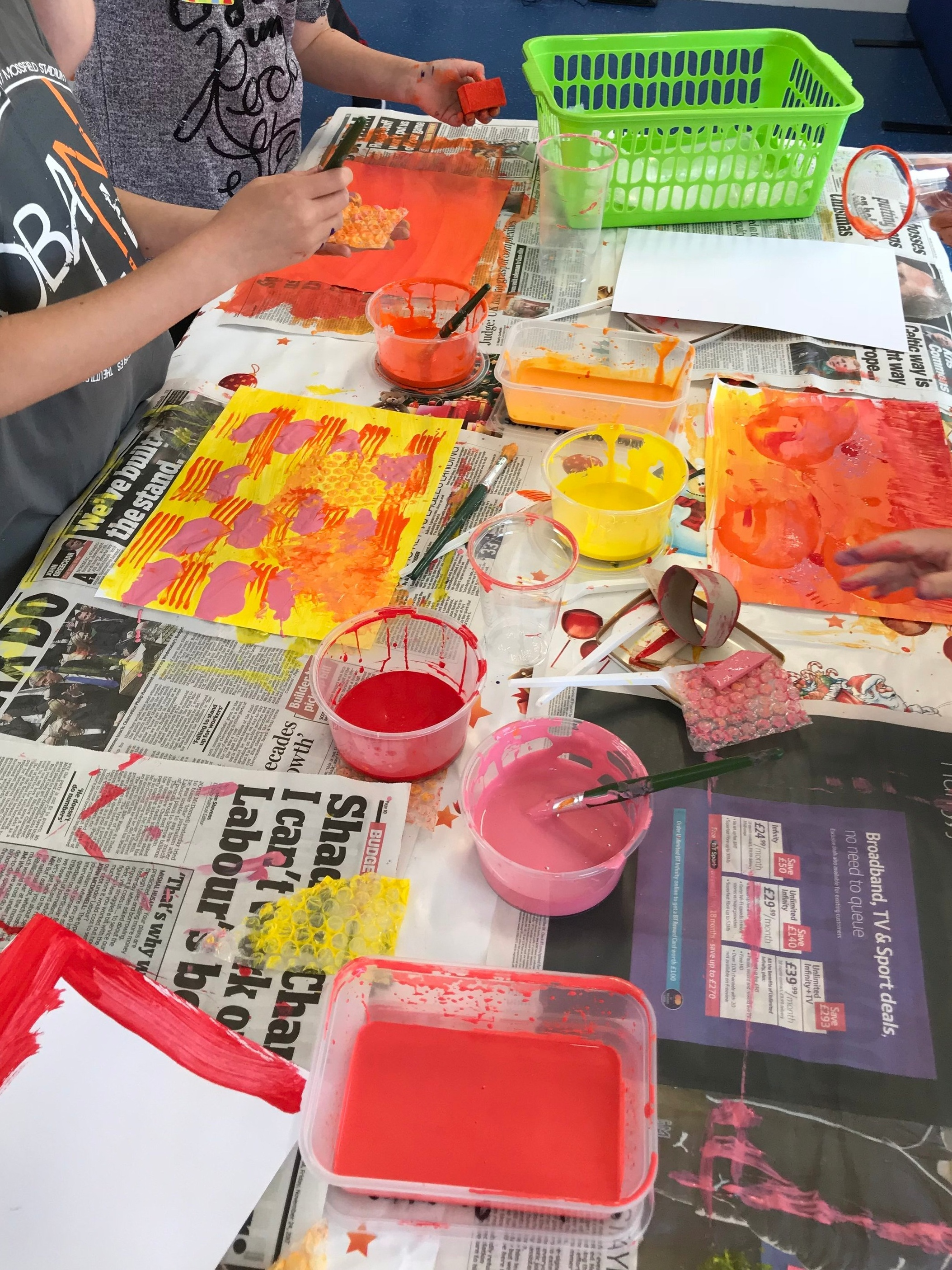 Making painted paper