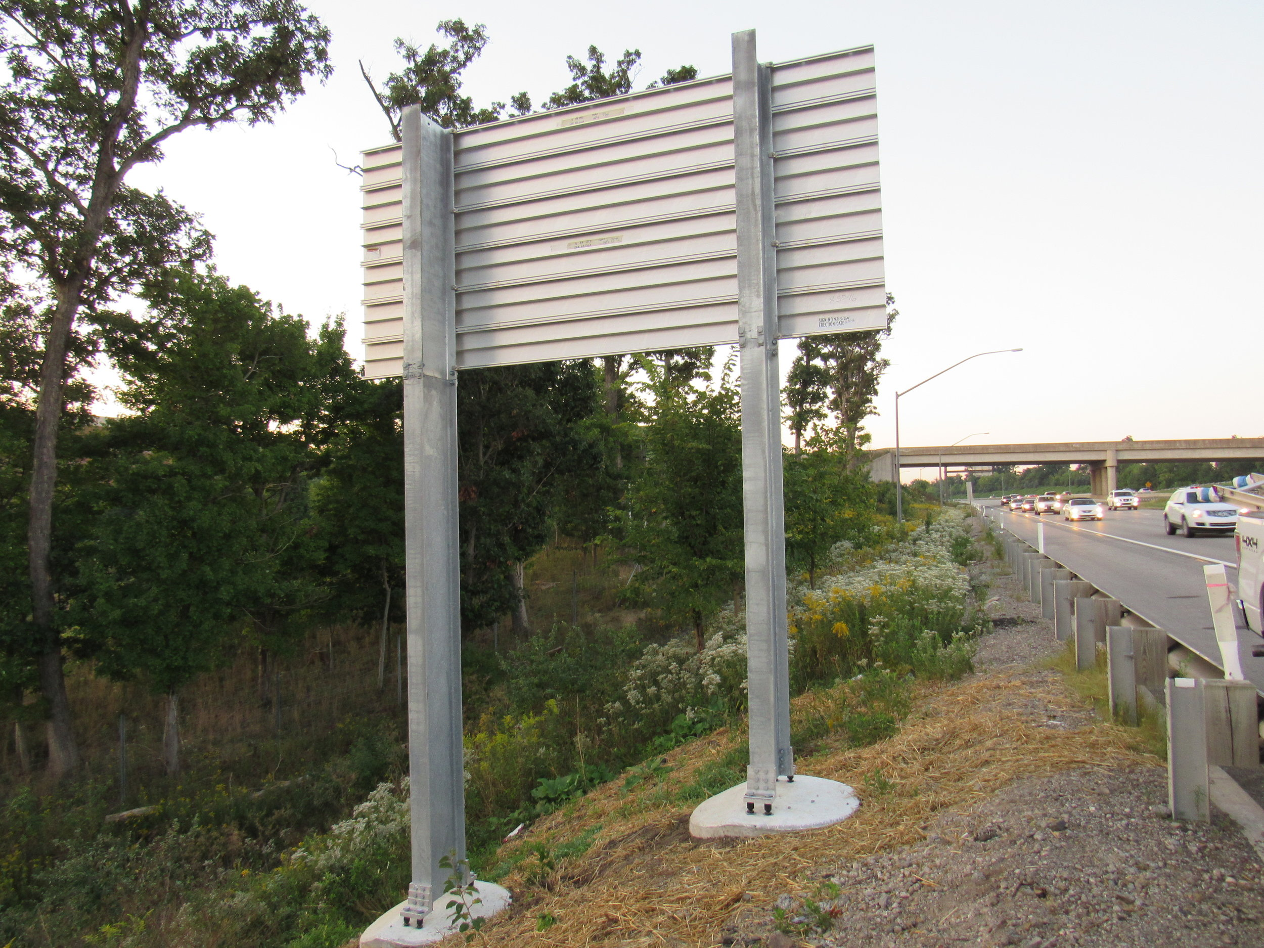 Sign post & Bollards - QBF can fabricate single posts and breakaway posts as required in a wide range of beam sizes.