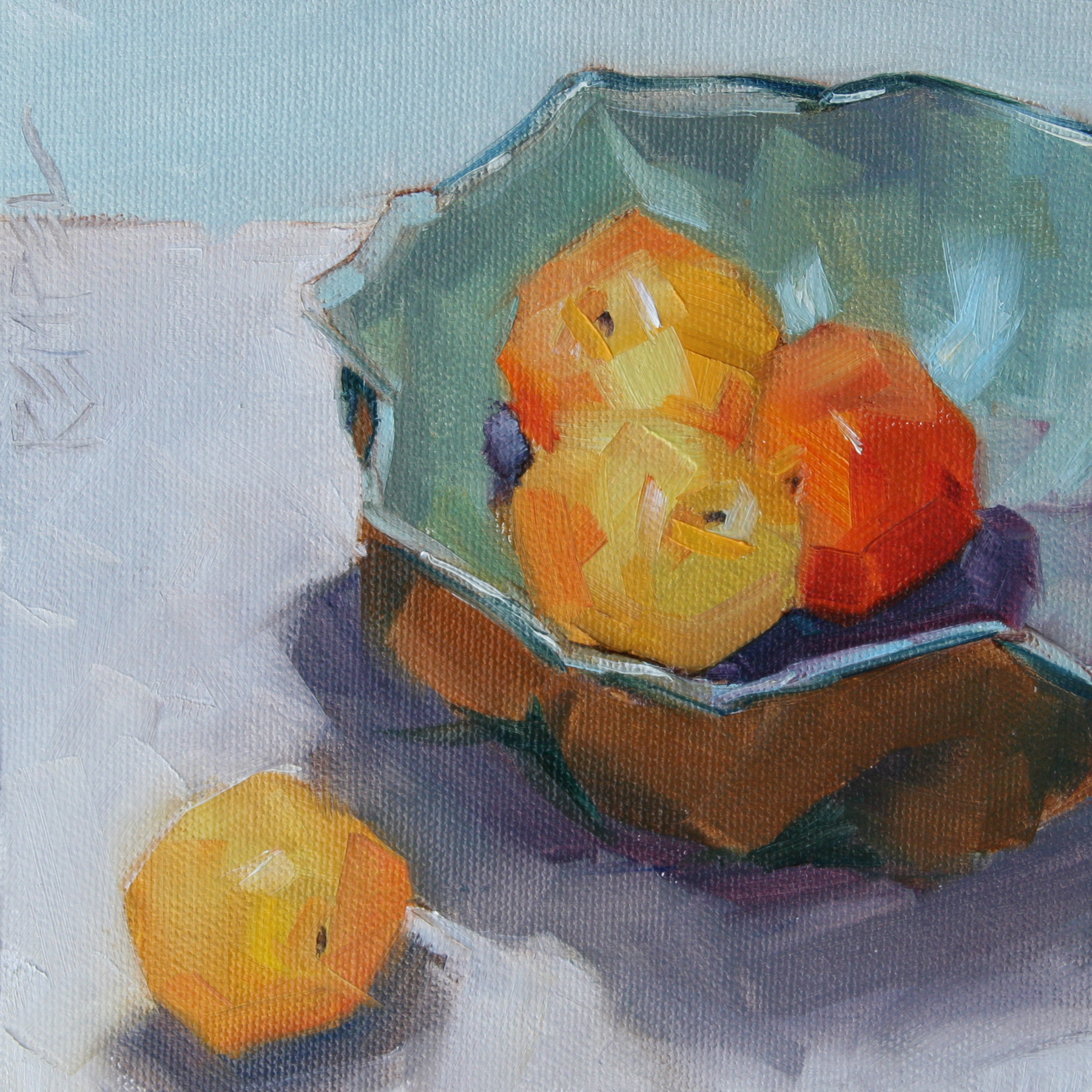 Plums in pottery bowl  •