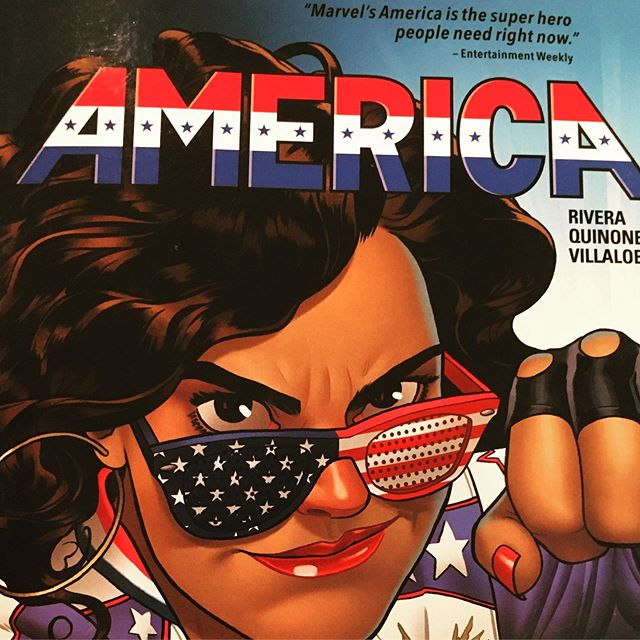 #americachavez is officially my FAVORITE super hero. So much love and respect for Gabby Rivera @quirkyrican for bringing this to life. Check out Gabby's Ted Talk and books ASAP! You won't regret it! All the powerful and inspiring feels.  On a journey toward living brave enough to be soft. ✌️💚