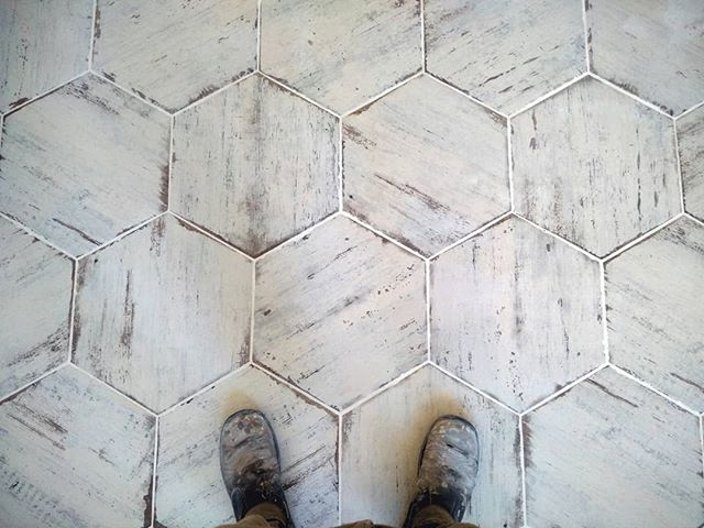 These hexagon porcelain tiles will definitely add a stylish twist to your bathroom or kitchen floor.