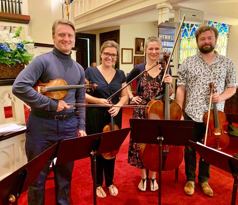 Arel Quartet visiting from Luxembourg.