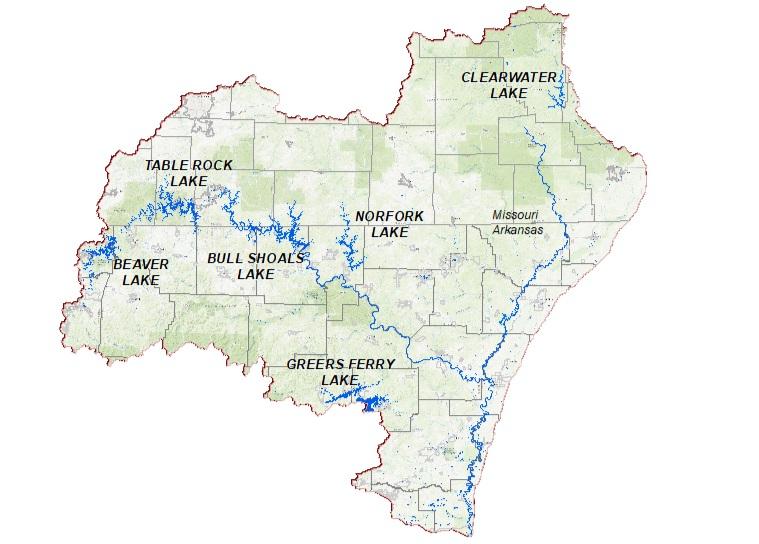 map of white river in arkansas White River Basin History White River Basin Study map of white river in arkansas