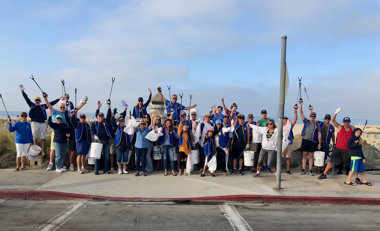 Rotary Club of Coronado cleans the beach once a month!