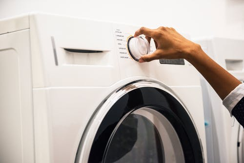 Wash your clothes in cold water and save energy.