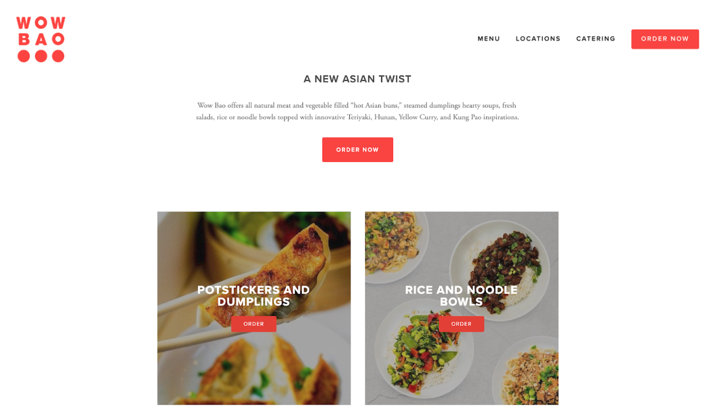 1. More calls to action to encourage ordering  2. Highlight featured menu items