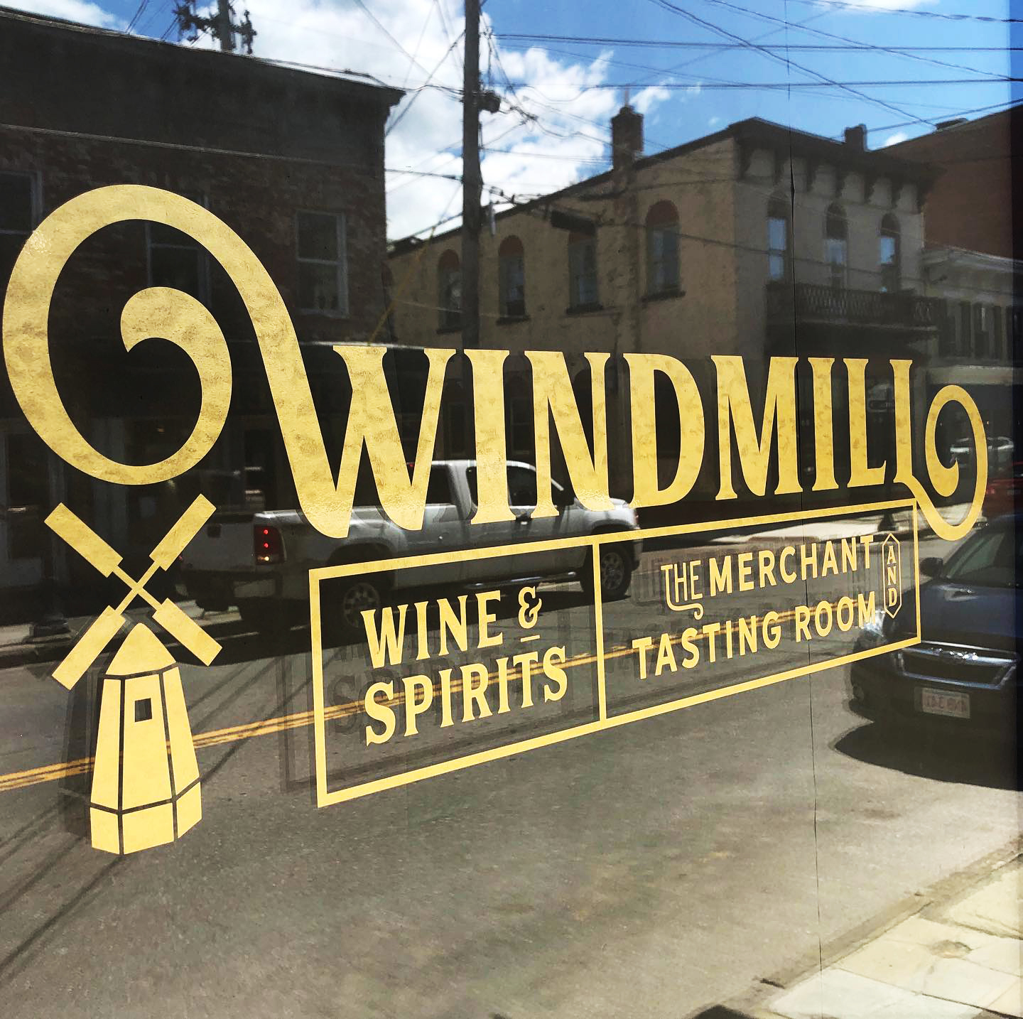 Windmill Wine & Spirits Exterior/Window Sign