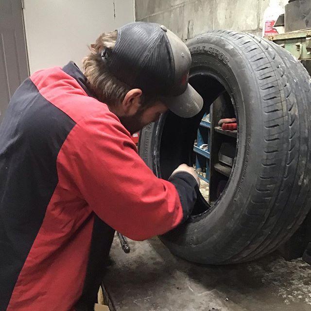 Tire repair Thursday #squamishmechanic #squamishmechanic #tirerepair #good2go