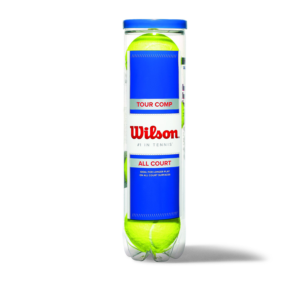 Wilson Tour Comp Tennis Balls - These wool-free balls are produced without any animal materials or byproducts and they play well on all surfaces.