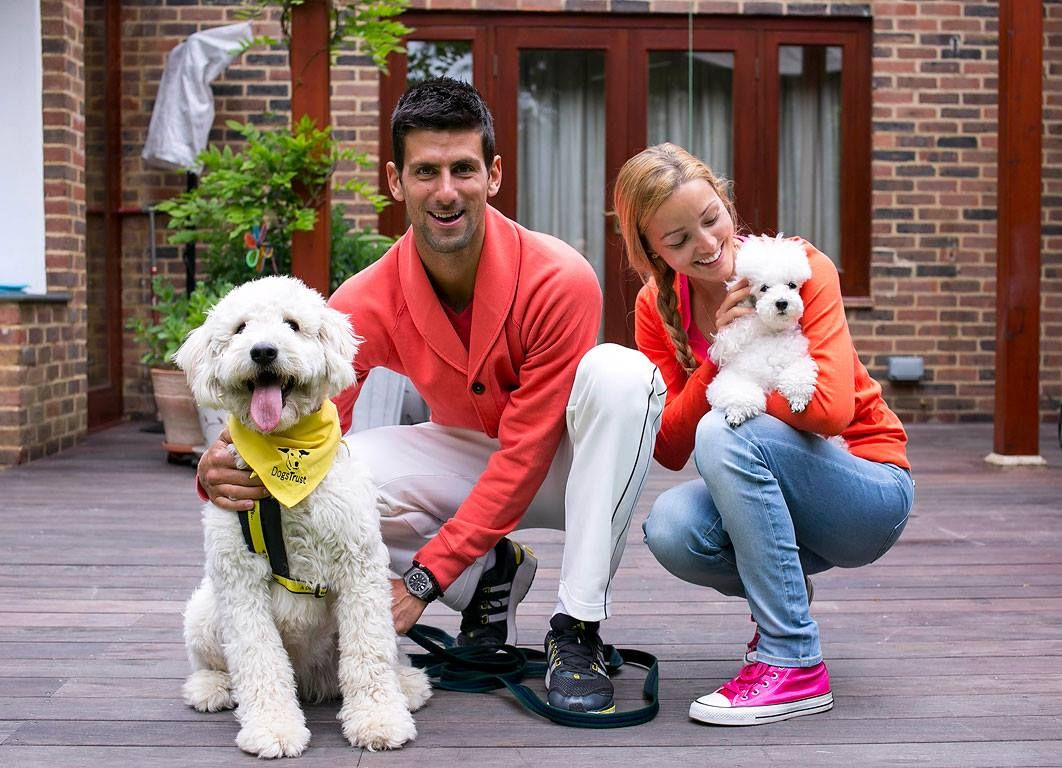 Novak Djokovic for Dogs Trust. | Photo Credit: Novak Djokovic