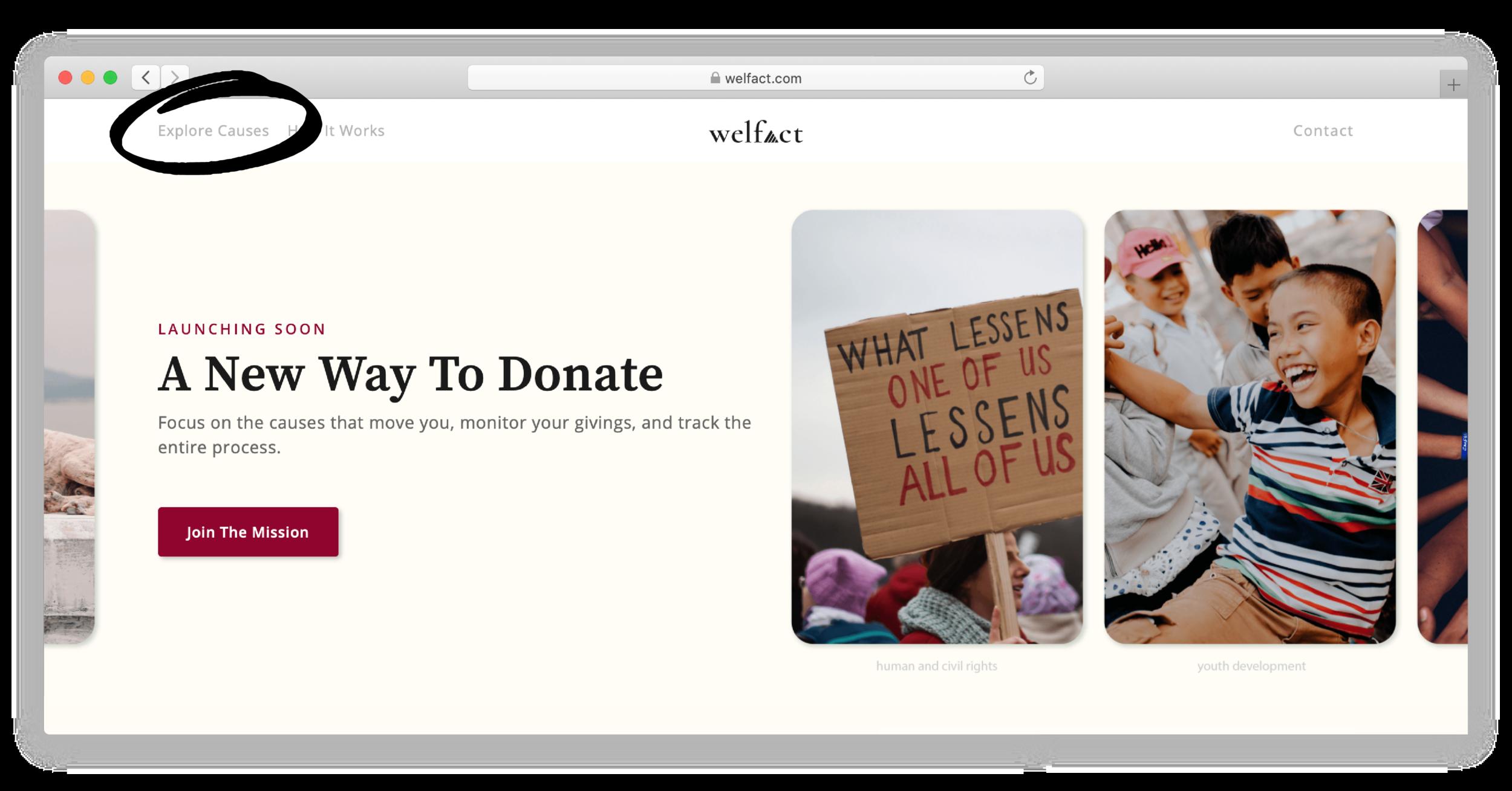 Welfact Marketing Website - New Tab
