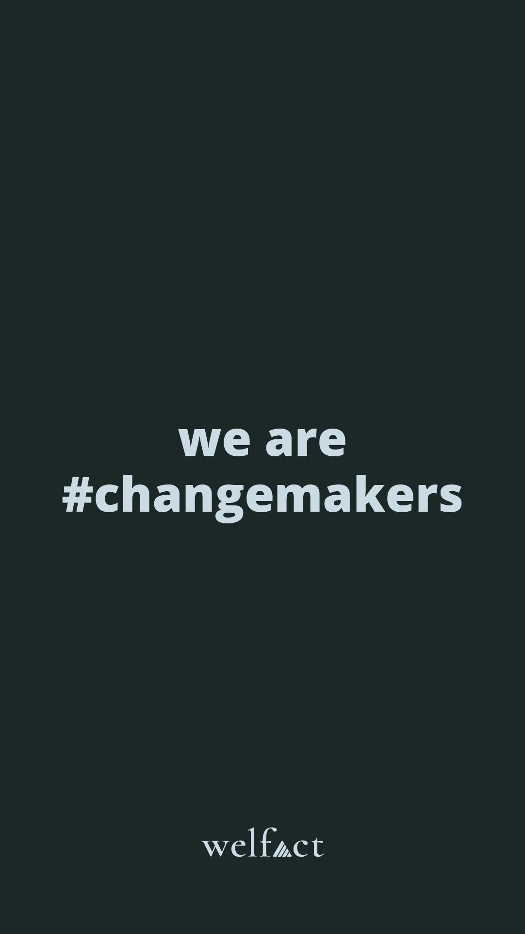Welfact Assets - #ChangeMaker, Blue