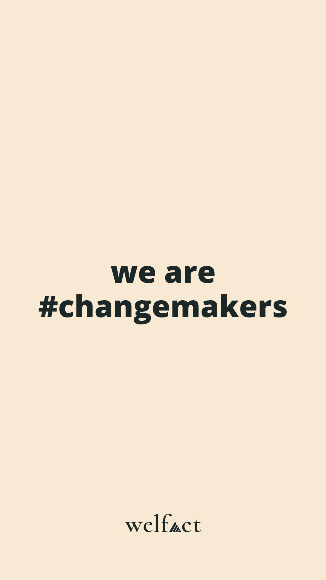 Welfact Assets - #ChangeMaker, Yellow