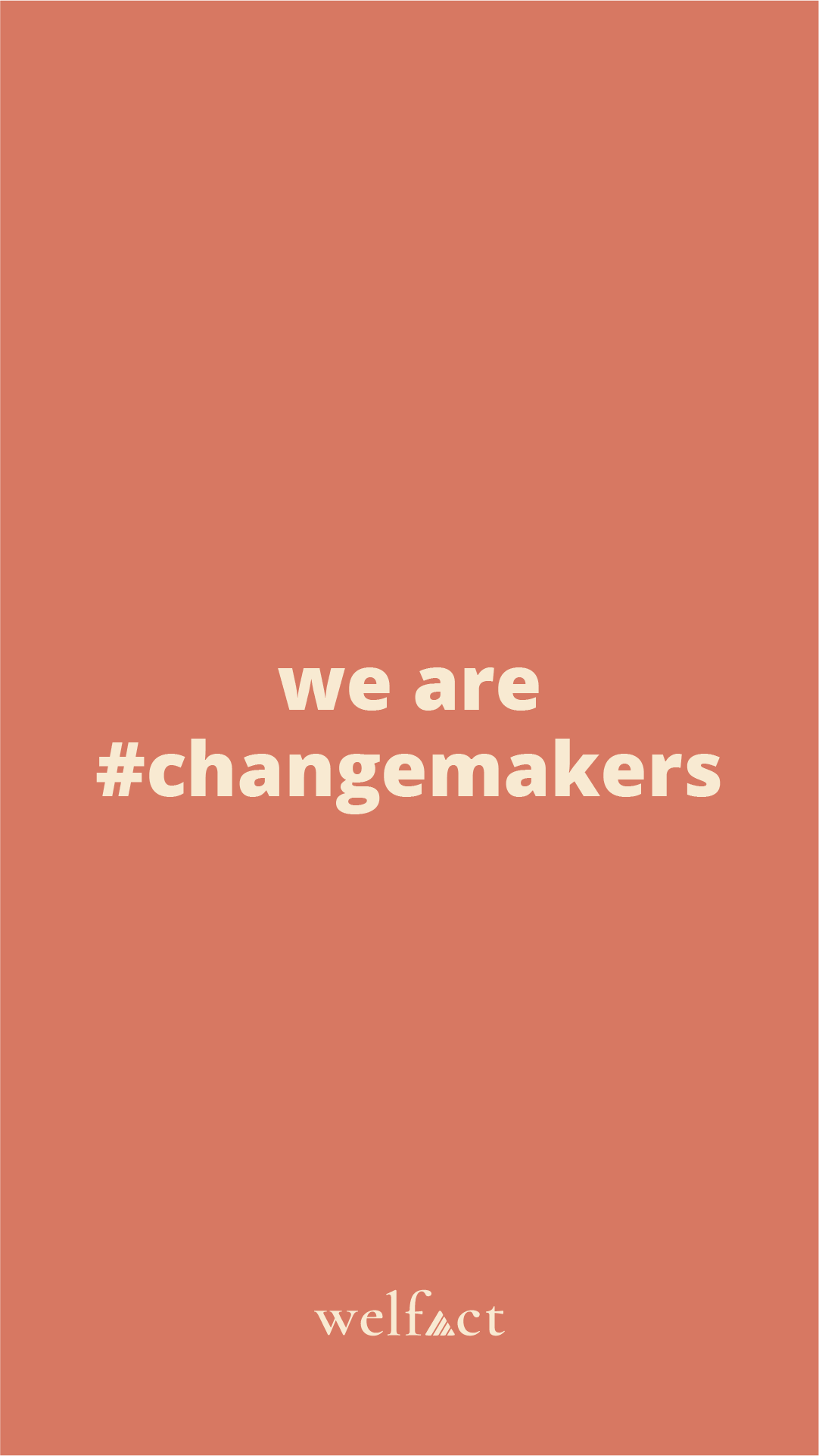 Welfact Asset - #ChangeMaker, Red