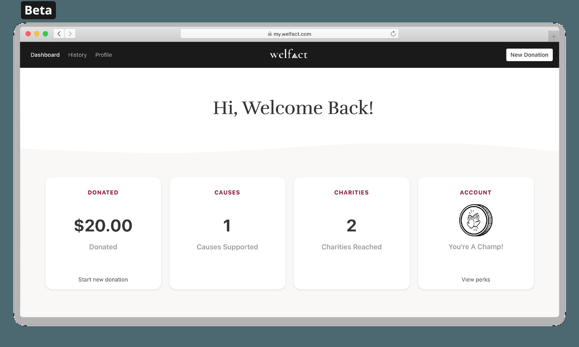 Welfact Donation Platform