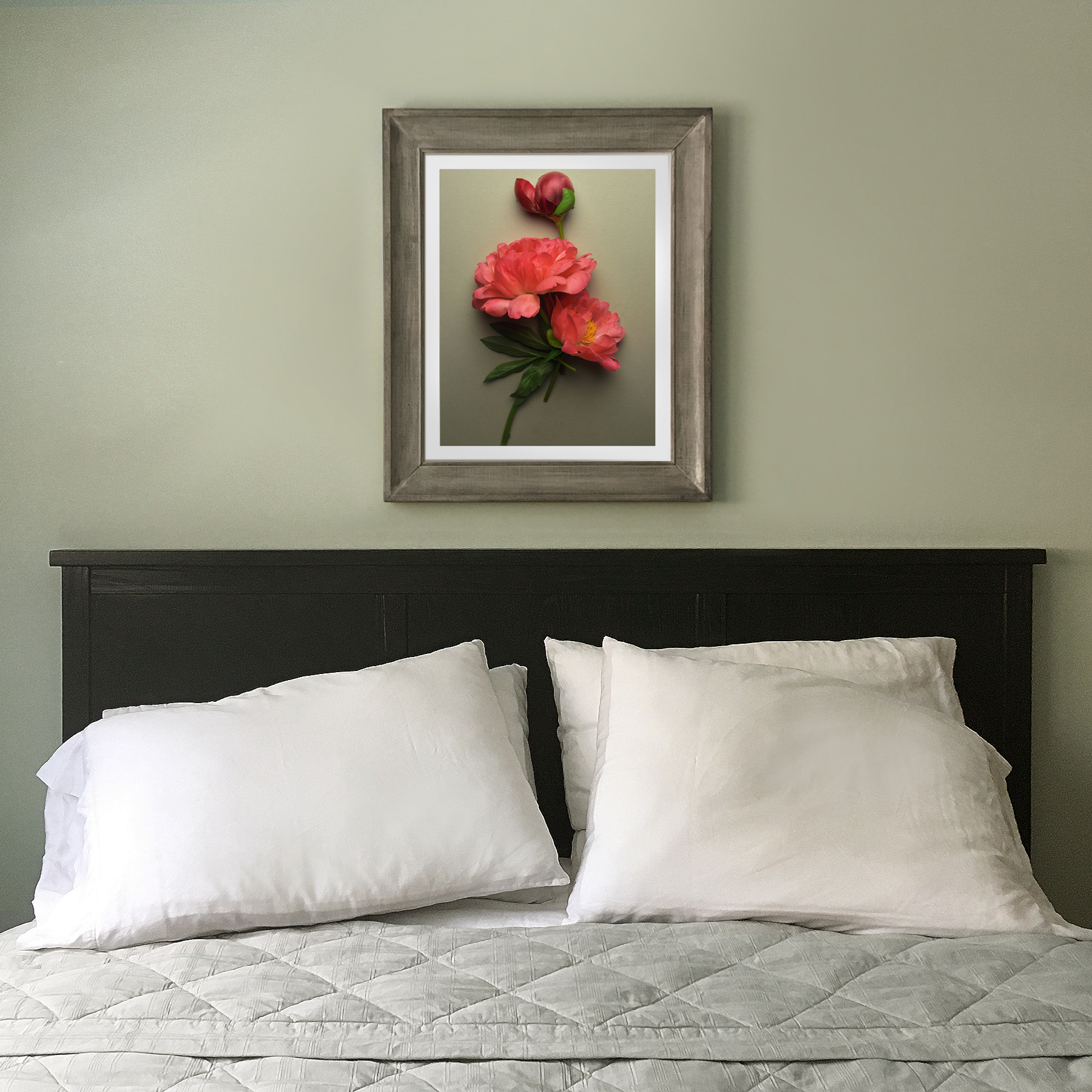 Peonies Over the Bed