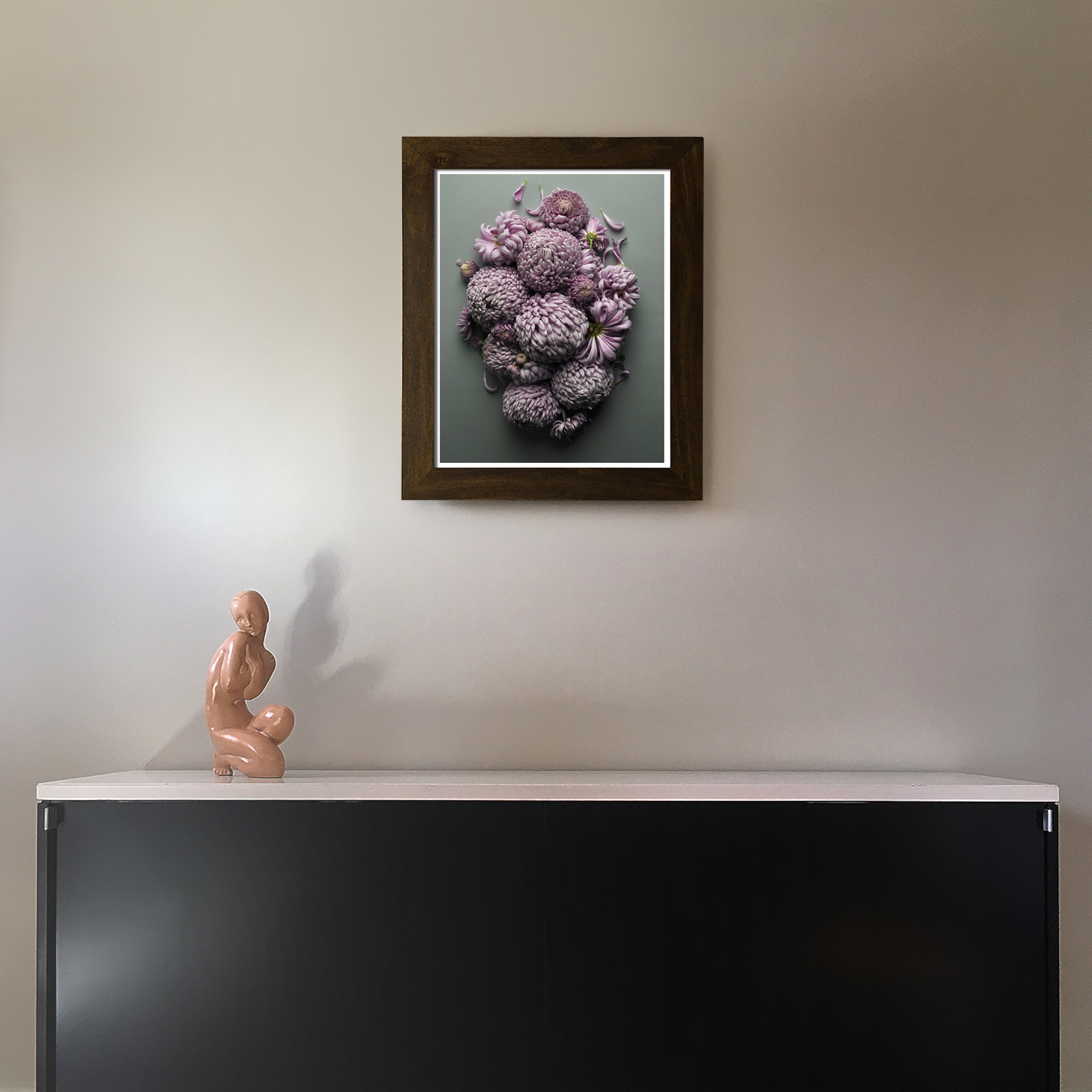 Mums Over the Credenza