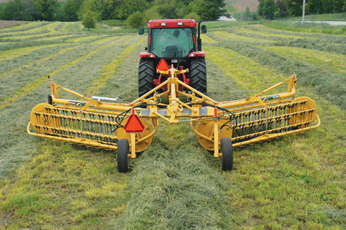 Rakes - It's a cinch to form the windrows for bales with one of the Vermeer exclusive hay rakes