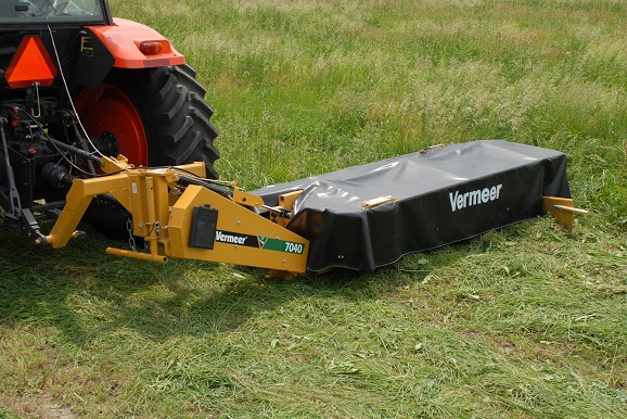 Disk Mowers - Vermeer improved the standard design for disk mowers with innovations that produce high cutting performance while reducing maintenance needs.