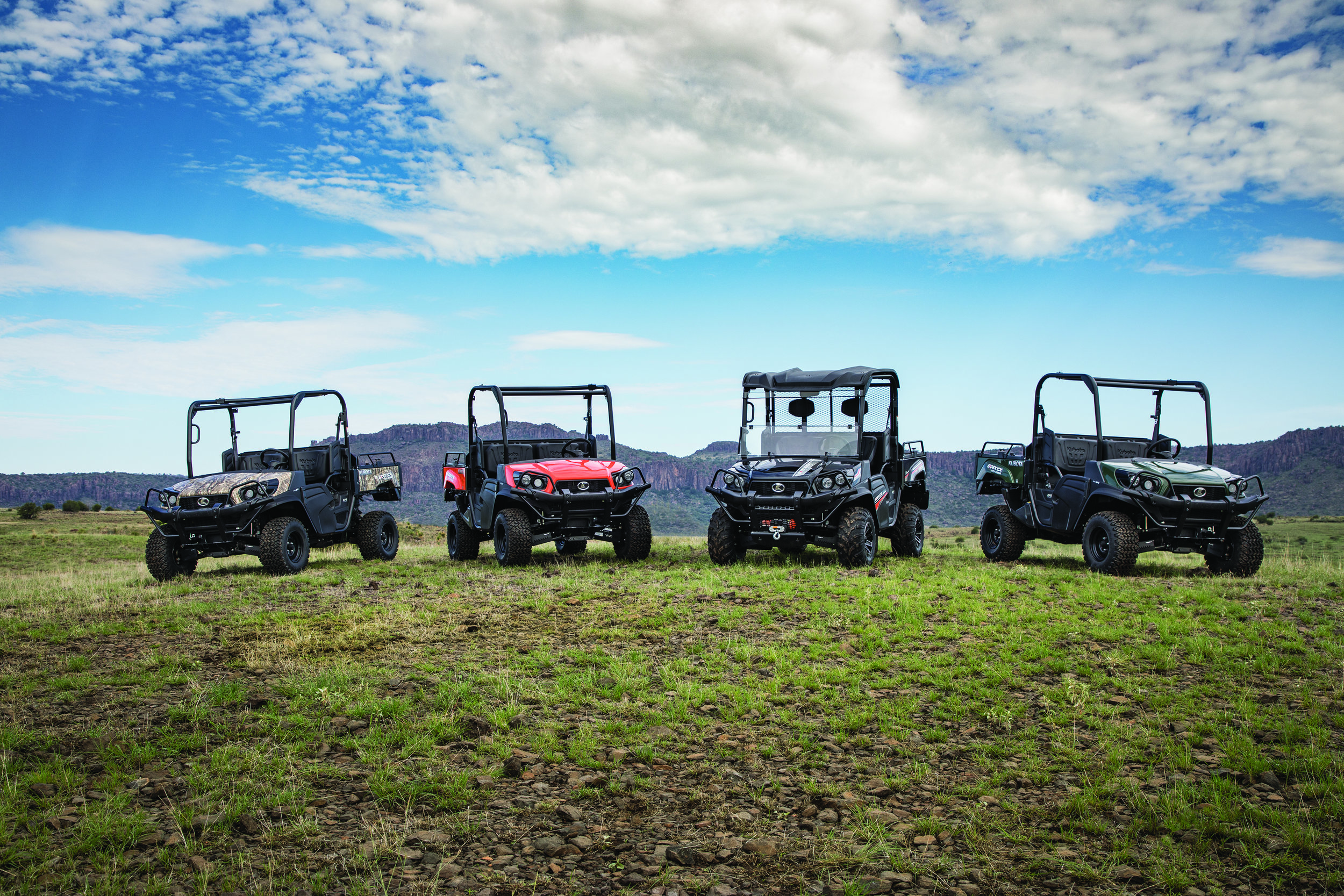 RTV's - Whether you need a utility vehicle for farming during the week, hunting on the weekend, or simply getting around your land more efficiently, the RTV Series is for you. These machines are ready to work, wherever work takes you.