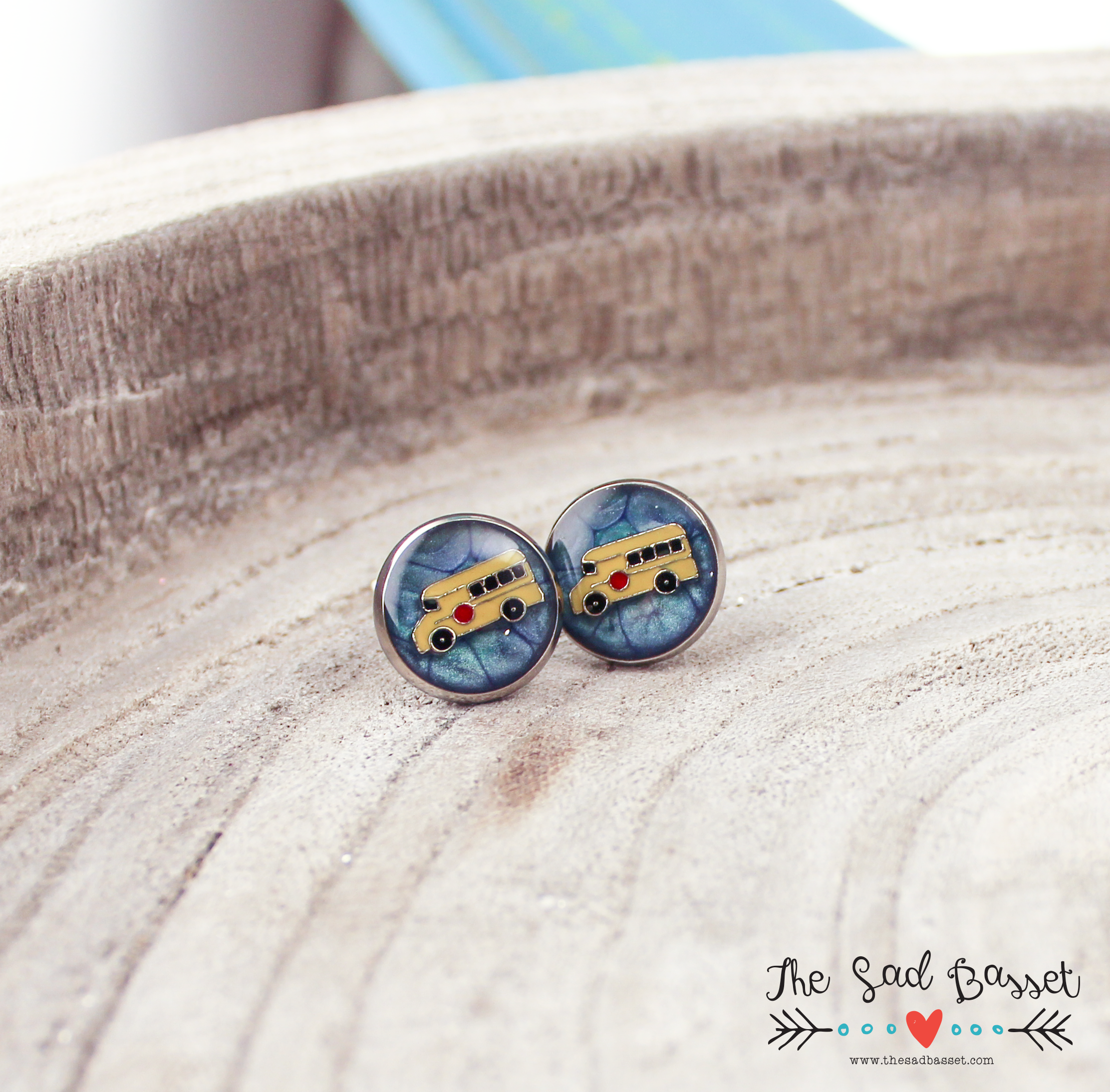 School Bus Earrings