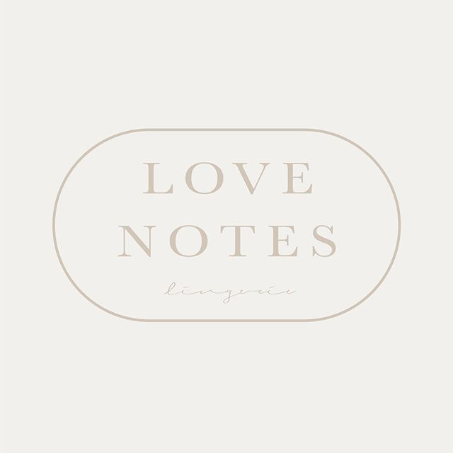 Thought I'd share this little secondary logo for Love Notes Lingerie today. A brand identity I began to share a while ago but forgot to finish in the hustle and bustle of the new projects I've been working on! I just updated our website yesterday with some of our more recent projects, this one included! So be sure to check out the full brand experience with the link in our bio!