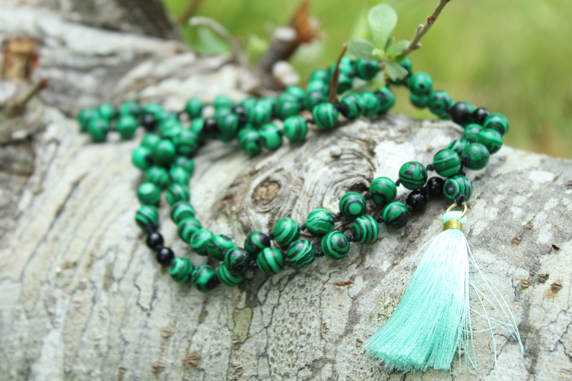 Malachite & Black Onyx- $80 - Made with Pure Love by Jacqueline while visiting Langlois, Oregon
