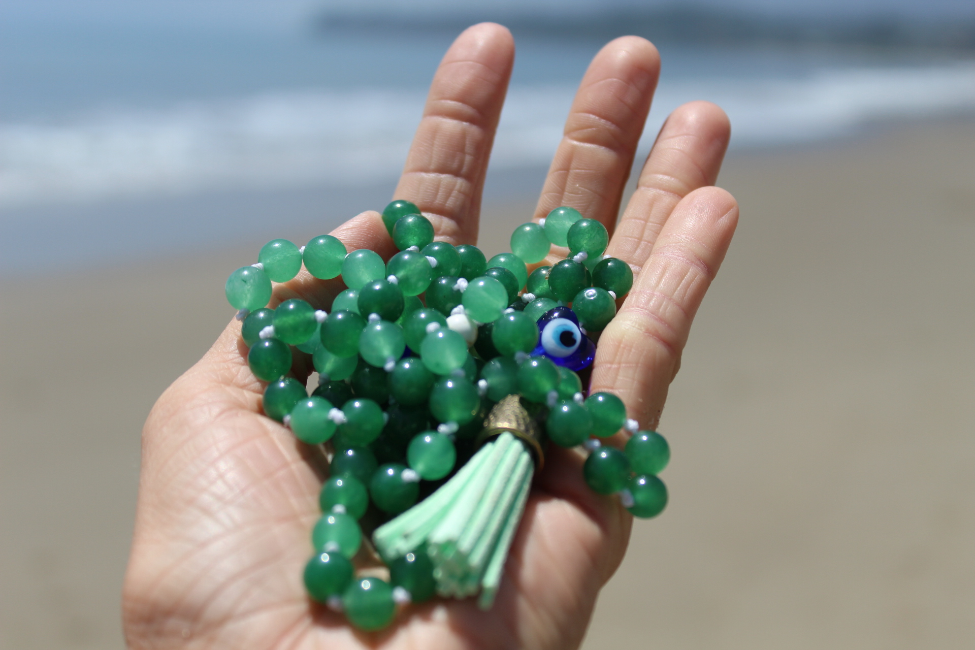 Green Aventurine- $75 - Made with Pure Love by Jacqueline on Santa Claus beach in Santa Barbara, California