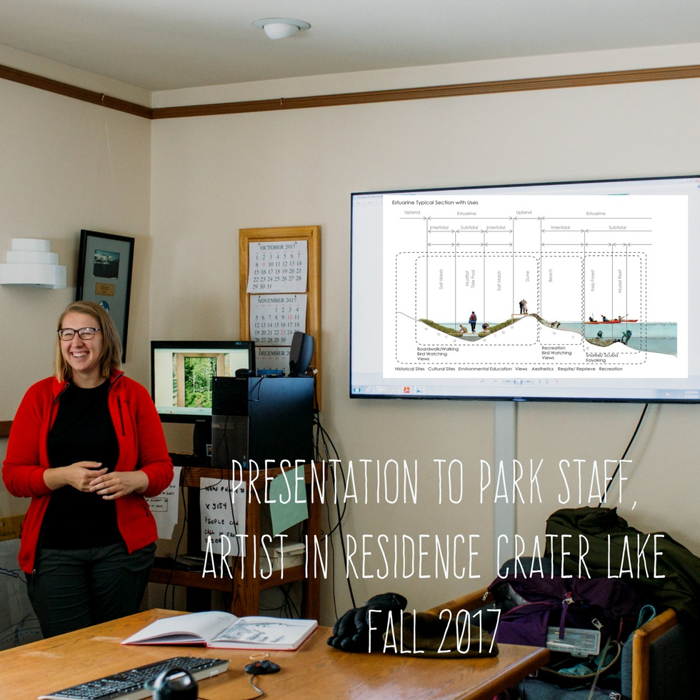 PRESENTATION TO PARK STAFF, ARTIST IN RESIDENCE CRATER LAKE FALL 2017 (1)