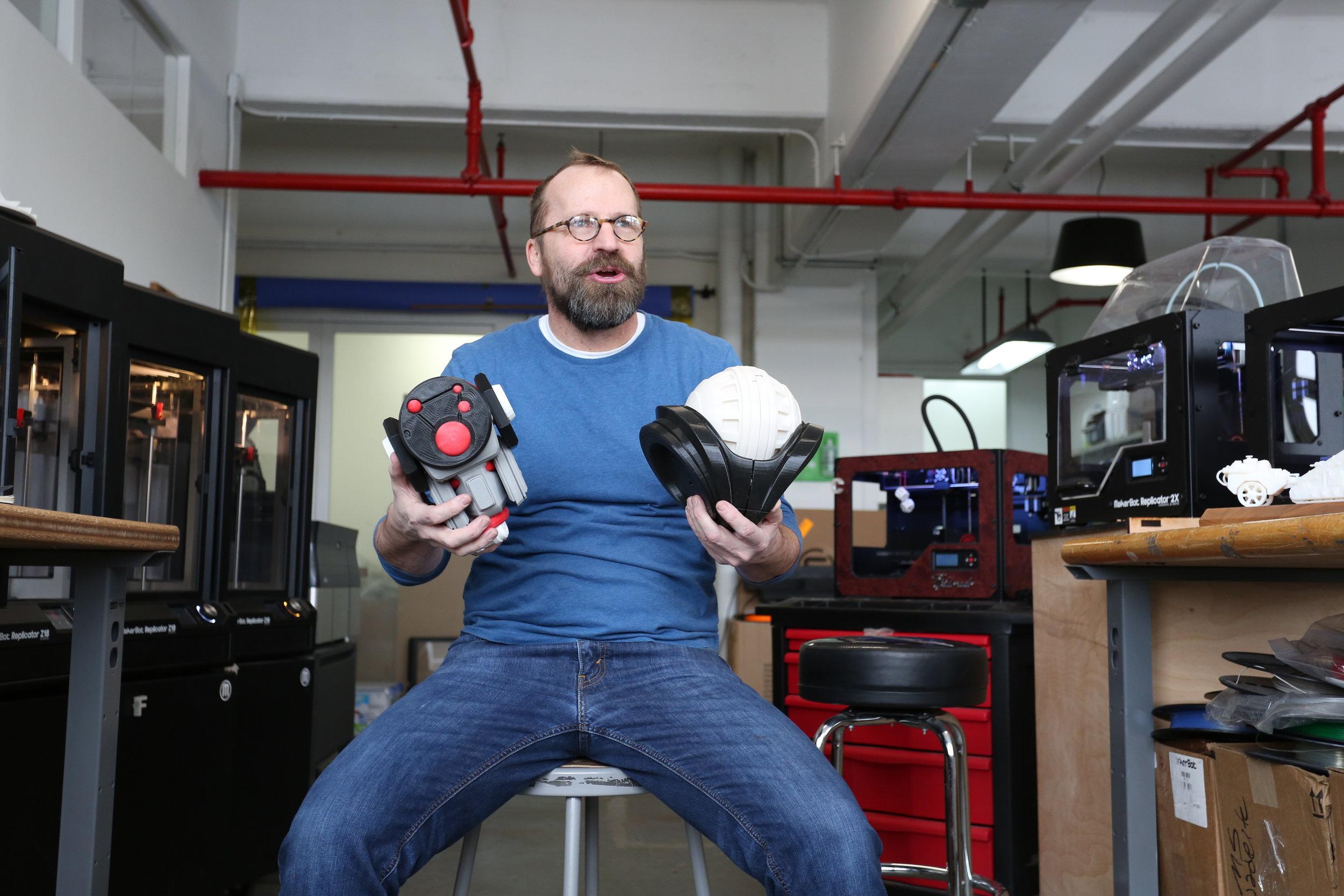 Rob at the Roboto.NYC workshop.