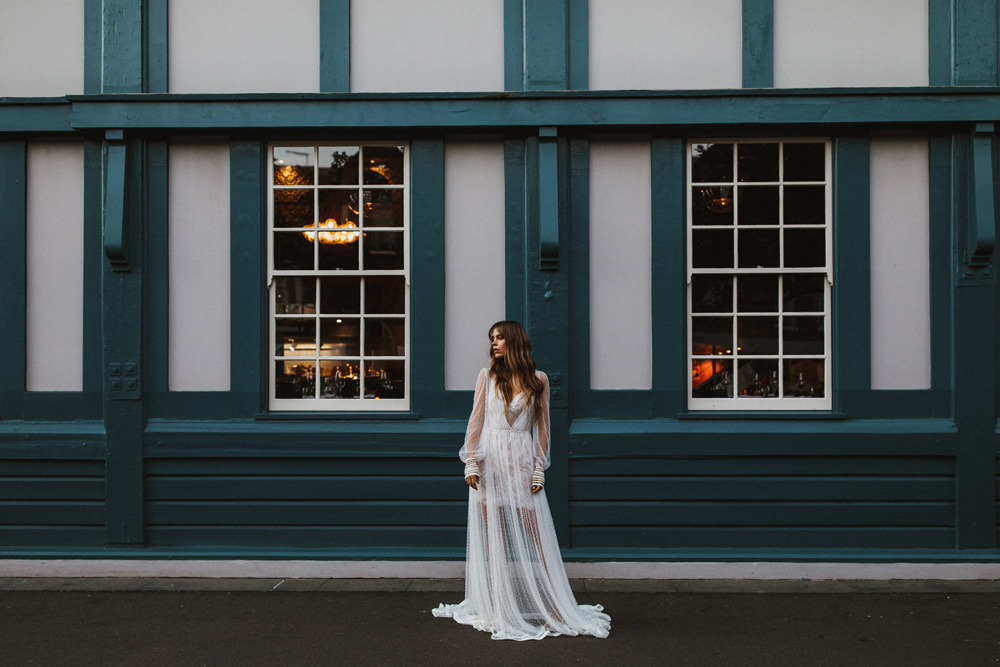 Christina wears Inbal Dror BR-17-23 gown available from Helen Rodrigues