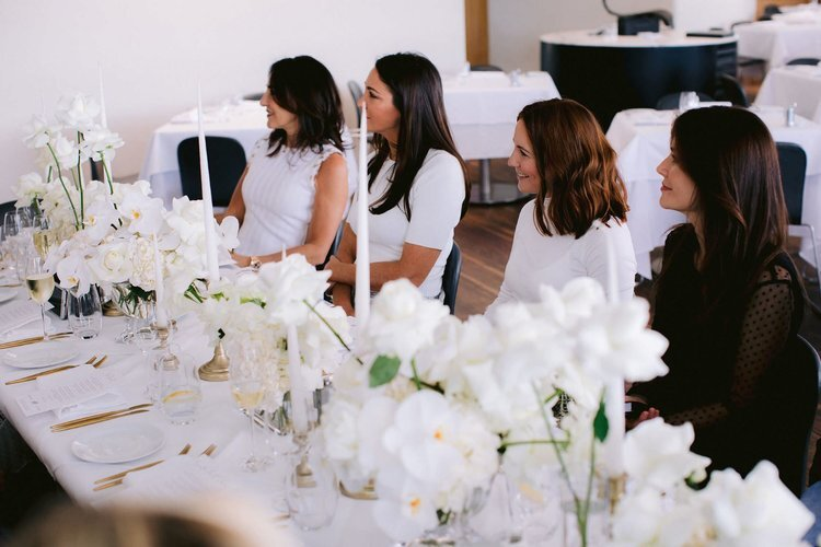 From left: Benita Kam of BNT Events, #HRBride and Paspaley Creative Director Christine Salter, The Wedding Series Agency Founder Kate O'Shea and Jocelyn Petroni